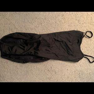 Black Speedo One-Piece Bathing Suit Open Back